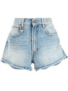 джинсовые шорты с эффектом потертости R13 165682745053