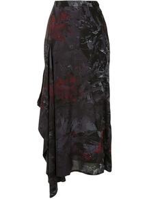 юбка с драпировкой и абстрактным принтом Y3 1599498649