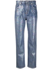 джинсы прямого кроя с эффектом металлик MSGM 145292685156