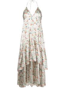 ярусное платье с вырезом халтер и цветочным принтом L'Autre Chose 164821375248