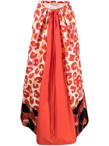 юбка миди с леопардовым принтом Marni 164707085250