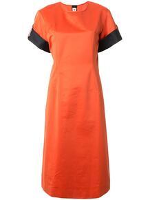 платье прямого кроя с контрастными вставками Marni 148442325248