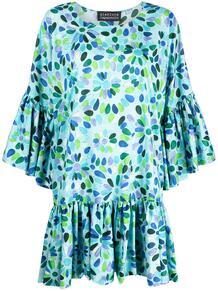 платье с цветочным принтом и складками GIANLUCA CAPANNOLO 164325055156