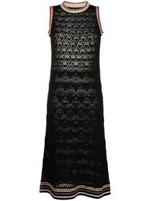 платье с узором шеврон ROBERTO COLLINA 165444955250