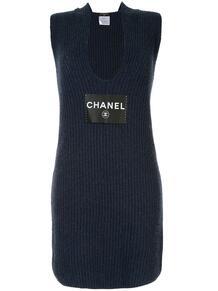 платье без рукавов с логотипом СС Chanel Pre-Owned 139602035154
