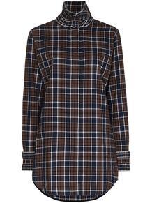 клетчатая блузка с оборками Victoria Beckham 1558098256