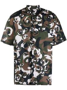 рубашка с камуфляжным принтом Les Hommes 165613385256