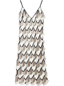декорированное платье-комбинация CAROLINA HERRERA 1614908554