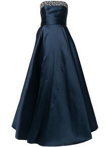 декорированное платье без бретелей CAROLINA HERRERA 1629395656