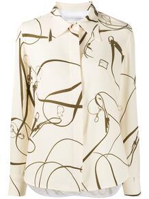 рубашка с длинными рукавами и принтом Victoria Beckham 1490962554