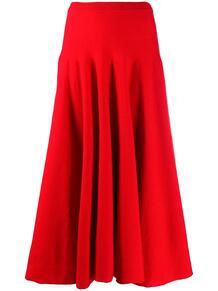 трикотажная юбка миди в рубчик Marni 156059035156