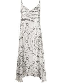 платье-комбинация с принтом AllSaints 1578910156