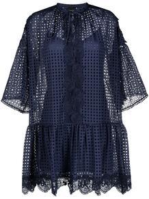 платье-трапеция с вышивкой Pinko 1635825583