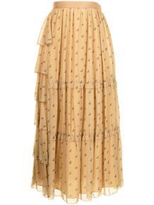 ярусная юбка макси с принтом Sueundercover 1660518150
