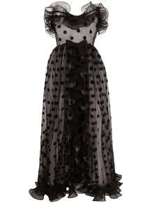 платье в горох с оборками GIAMBATTISTA VALLI 166387465252