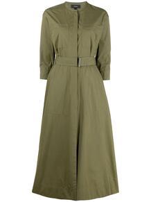 платье с поясом Theory 1662197556