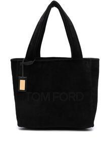 вельветовая сумка-тоут с тисненым логотипом Tom Ford 16660579636363633263
