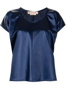 атласная блузка с пышными рукавами Marni 163794665248
