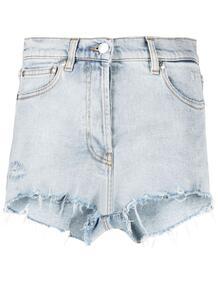 джинсовые шорты с бахромой MSGM 166006565248