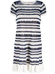 трикотажное платье в полоску TWINSET 1653984383