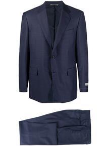 полосатый костюм с однобортным пиджаком Canali 165958095348