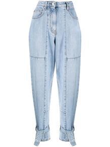 джинсы с завязками на манжетах MSGM 166007105250