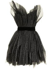плиссированное платье мини с пышной юбкой RALPH & RUSSO 162996535154