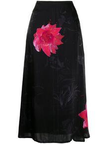 юбка с цветочным принтом Y3 1639450749