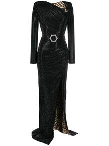 платье с разрезом и кристаллами PHILIPP PLEIN 1619227083