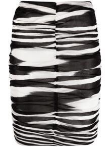 юбка с зебровым принтом и сборками Missoni 164006235254
