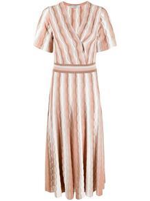 платье в полоску с эффектом металлик D.EXTERIOR 1659656883