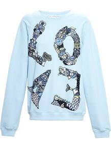 'Love' embroidered sweatshirt MARY KATRANTZOU 1090297183
