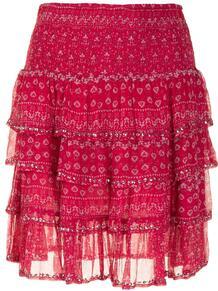 юбка с оборками и цветочным принтом MES DEMOISELLES 166029365154