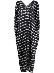 драпированное платье с абстрактным принтом HENRIK VIBSKOV 1664329677