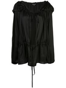 блузка с капюшоном и складками Ann Demeulemeester 145774975156