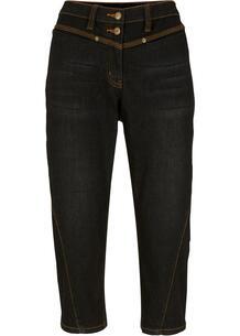 Капри джинсовые с декоративными швами bonprix 267074259