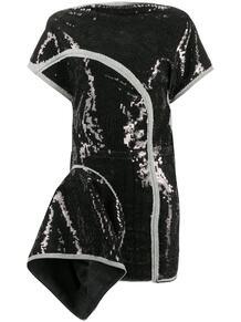 джинсовое платье с пайетками и V-образным вырезом на спине Rick Owens 159745965248