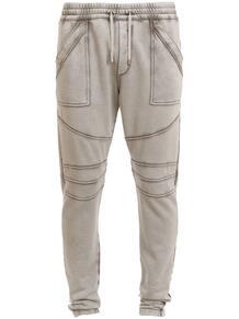 брюки с декоративными швами BALMAIN 1626277976