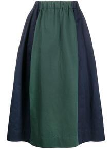 юбка с завышенной талией и контрастной полоской Marni 160483875156