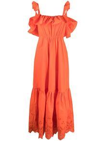 платье с английской вышивкой и оборками Self Portrait 166863954948