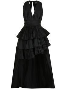 платье с глубоким вырезом и плиссировкой ElieSaab 162858145156