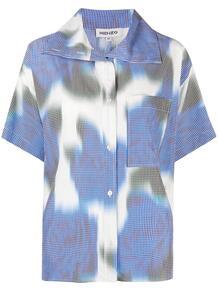 рубашка в клетку гингем Kenzo 166853025250