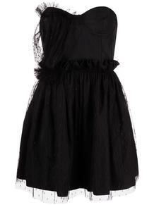 платье из тюля без бретелей RED VALENTINO 167042355248