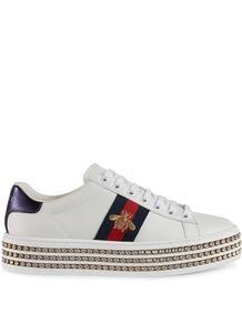 кроссовки 'Ace' с кристаллами Gucci 1257686851564653