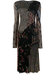плиссированное платье в полоску Etro 142718145250
