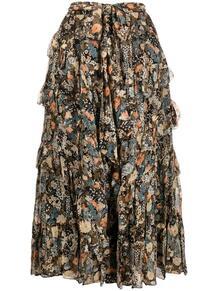 юбка миди Maisie с цветочным принтом ULLA JOHNSON 1669182252