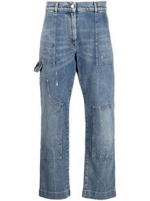 джинсы прямого кроя со вставками MSGM 166553265248