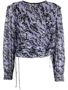 блузка с принтом и драпировкой IRO 166782015156