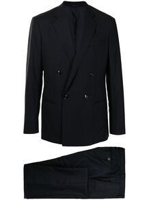 полосатый костюм с двубортным пиджаком Giorgio Armani 165869285348