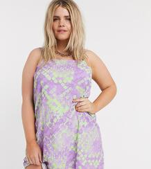 Платье мини со змеиным принтом Plus-Многоцветный Collusion 10094952